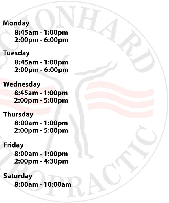 List of office hours. For assistance call 517-783-0900